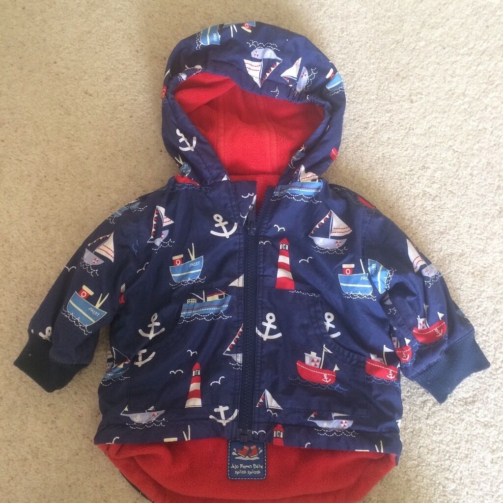 Boys waterproof fleece lined jacket from Jojo Maman Bebe 6-12months