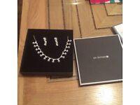 Jon Richards pearl and diamonte jewellery set