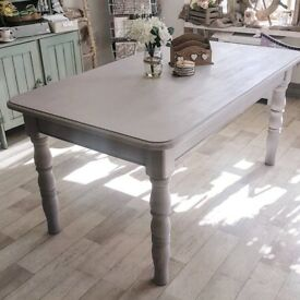 Shabby Chic Country Farmhouse Rustic Dining Table