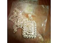 Brand new real silver Jesus piece belts bracelet watch ring bags cars chain trainers bag bracelet