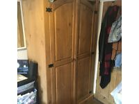 Mexican pine double wardrobe