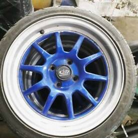 "rota gt3 alloys 4x100 16"" alloy wheels civic glanza polo mx5"