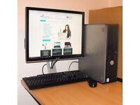 Dell 330 Windows 10 Dual Core PC Desktop Computer Tower 2GB RAM 80GB HDD Microsoft Office