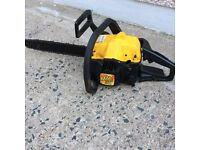 McCulloch MAC 335 petrol chainsaw. Vortex air system 14 inch blade with extra blade Great condition