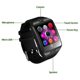 CHEREEKI Smartwatch with Camera, Supports SIM / TF Card, Bluetooth,Pedometer, Curved Screen