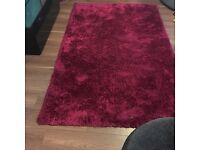 Dark pink indulgence rug