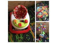 Baby walkers ,play mat,mobile cot