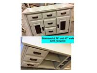 Vintage, shabby chic sideboard & TV unit REDUCED