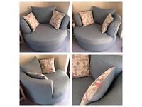 DFS swivel cuddle sofa