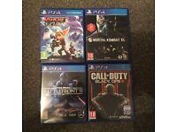 Playstation 4 (PS4) Games bundle