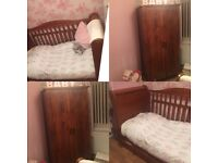 Babies cot bed and wardrobe 💗