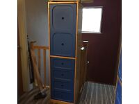 Children's ikea wardrobes x3, bookcase with storage and small storage unit