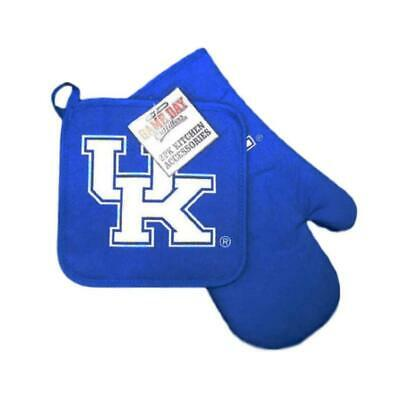 Kentucky Wildcats Kitchen Oven Mitt and Pot Holder Set [NEW] NCAA Cooking