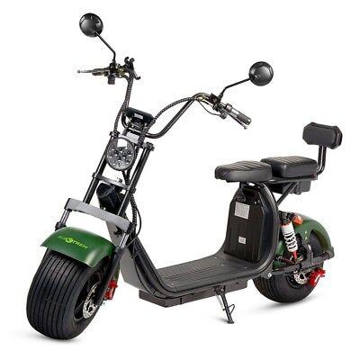 Moto electrica scooter de 1500w bateria 12Ah 60v chopper CityCoco verde y...