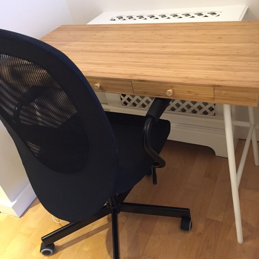 new ikea desk and office chair in west end london gumtree