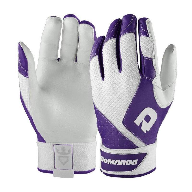 New Womans Size-L DeMarini Phantom Sheep Skin Leather Batting Gloves - Purple
