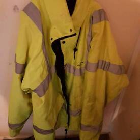 2 high visibility coats