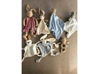Selection of baby comforters- most brand new