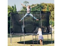 Brand New Plum 10ft Space Zone II Springsafe Trampoline and Enclosure Outdoor Bouncing Fun - Black