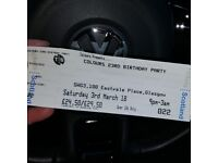 Colours ticket SWG3