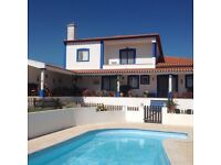 Detached five bedroomed villa on the Silver Coast Portugal One hour from rom Lisbon.