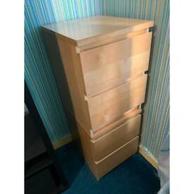 Bedside cabinet x2