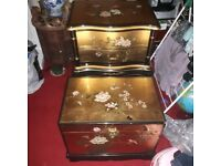 VINTAGE CHINESE LAQUERED FURNITURE LOOK