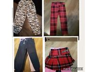 Girls Trousers/Leggings/Jeggings/Jeans bundle + 1 Next skirt