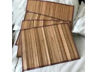 Four Bamboo Table Mats Placemats New