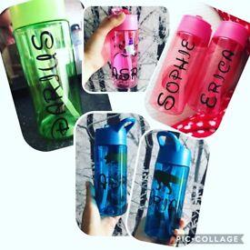 Back to school personalised water bottles