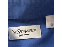 Blue Yves Saint Lauren shirt 16 1/2 collar