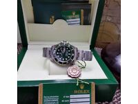 New *Hulk* Green / Silver Rolex Submariner - Rolex Boxed And Paperwork Included