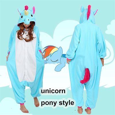 Unicorn Pony Onesie Kigurumi Fancy Dress Costume Hoodies Adult Cosplay Pajamas