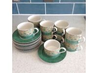 10 x Cups and Saucers. Excellent condition. Bhs Valencia design