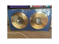 Framed U2 rattle and hum gold vinyl