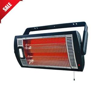 Electric Ceiling Heater Wall Mounted Shop Garage Heat Workshop Halogen Light - Brand new  - FREE SHIPPING