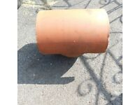 clay chimney cowl for capped off chimneys fits 8 inch pot or larger