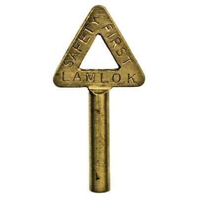 Antique Key - LAMLOK Key for Lamp Locking Rings 6 Point Star Tip - ref.k458