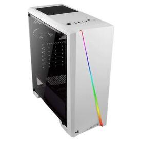 RGB Gaming PC CASE - White