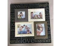 Picture frame and wood blocks