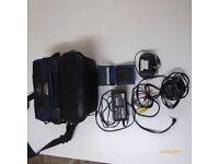 Sony Digital Camcorder hardly used with quality Samsonite camera bag