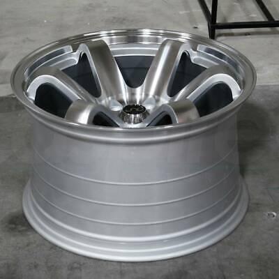 15x8 Silver Machine Face Wheels JNC 014 JNC014 4x100 20 (Set of 4)