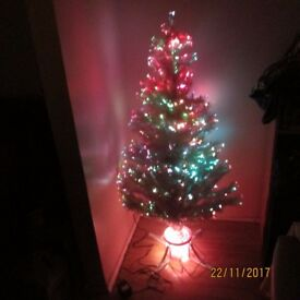 Christmas tree electric fibre optic 5 foot