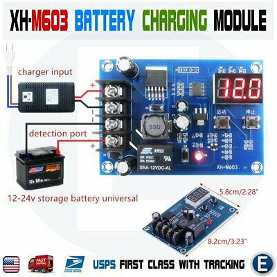 Xh-m603 12-24v Battery Charging Control Module Protection Led Voltmeter Board