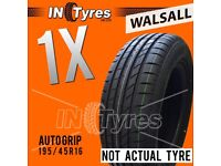 1x New 195/45R16 XL High Performance Budget Tyres Fitting Available x1 Walsall