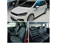 VW VOLKSWAGEN SHARAN MINICAB LEATHER SEAT COVERS