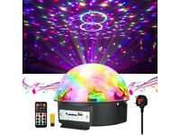 Stage Light Crystal Magic Ball Lamp MP3 Player Sound Activated Auto Flash Rotating RGB Strobe Light
