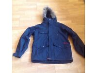 QUICKSILVER LADIES SKI JACKET IN BLACK WITH RED DETAIL SIZE 10-12