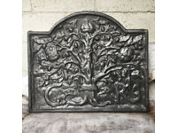 Royal Oak Cast Iron Fire Back