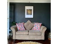 Petite 2 seater cord sofa - can deliver in Cardiff